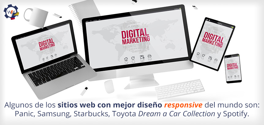 Sitios Web con Mejor Diseño Responsive: Panic, Samsung, Starbucks, Toyota Dream a Car Collection y Spotify